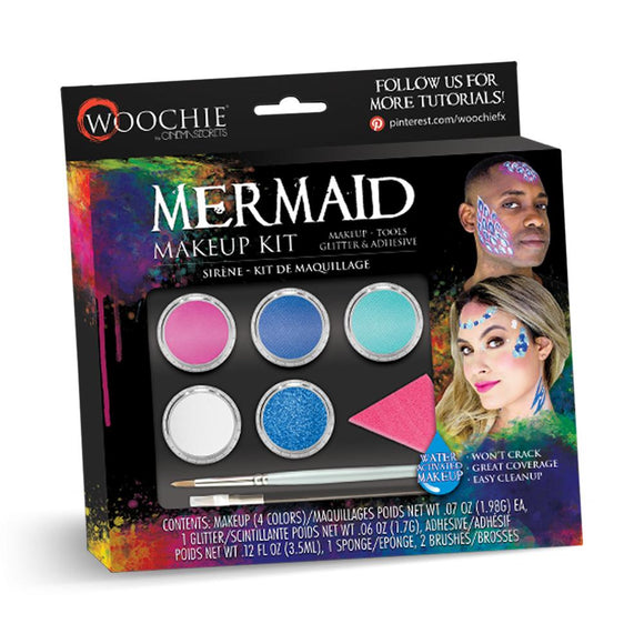 Woochie Water Activated Halloween Makeup Kit - Mermaid