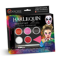 Woochie Water Activated Halloween Makeup Kit - Harlequin