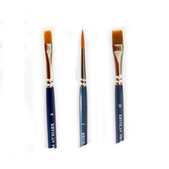 Kryolan Build Your Own Brush Set (Pick 3+ Styles)