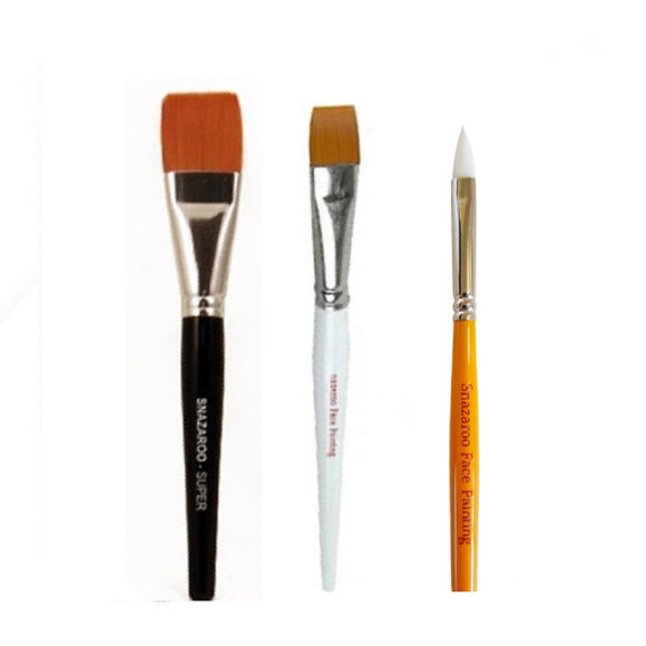 Snazaroo Build Your Own Brush Set (Pick 3+ Styles)