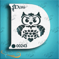 Diva Face Painting Stencil - Demi Owl