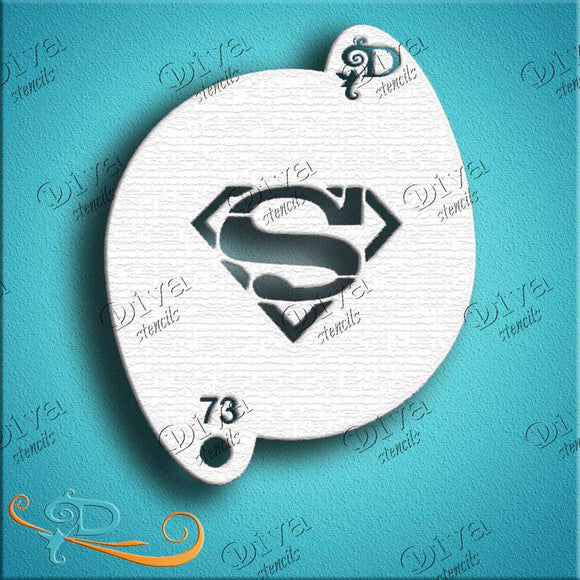 Diva Face Painting Stencil - Super Guy