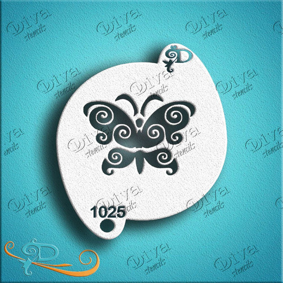 Diva Face Painting Stencil - Butterfly 4