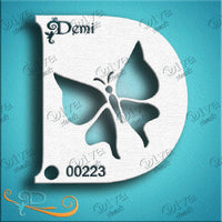 Diva Face Painting Stencil - Diva Demi Butterfly