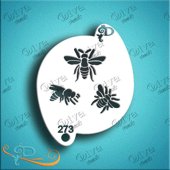Diva Face Painting Stencil - Bees