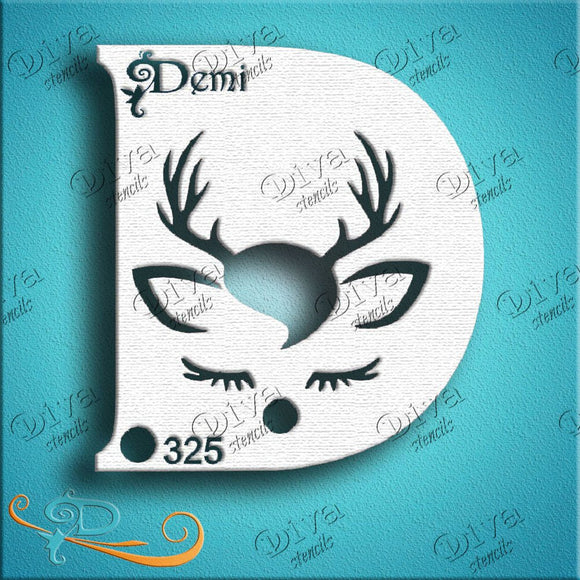 Diva Face Painting Stencil - Diva Demi Deer Boy