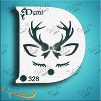 Diva Face Painting Stencil - Diva Demi Deer Girl