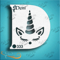 Diva Face Painting Stencil - Diva Demi Unicorn