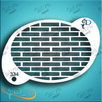 Diva Face Painting Stencil - Brick Pattern