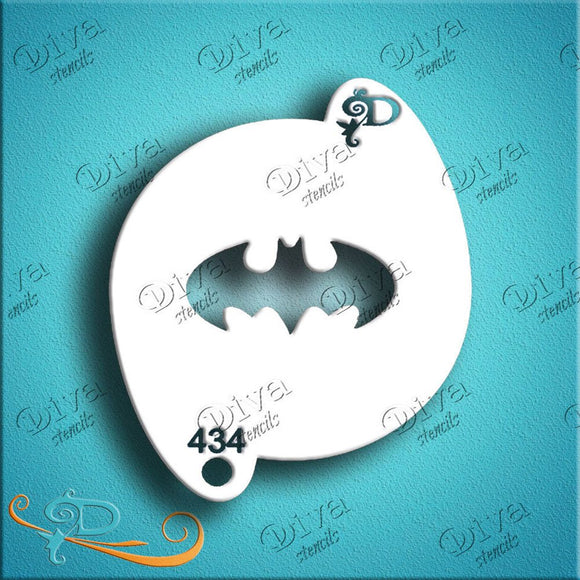 Diva Face Painting Stencil - Bat Symbol Plain