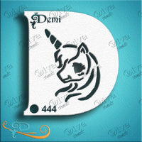 Diva Face Painting Stencil - Diva Demi Nancy Wu Unicorn