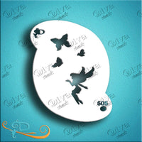 Diva Face Painting Stencil - Butterfly Fairy