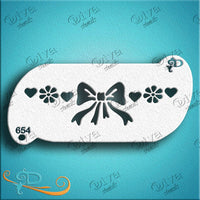 Diva Face Painting Stencil - Forehead Bow Band