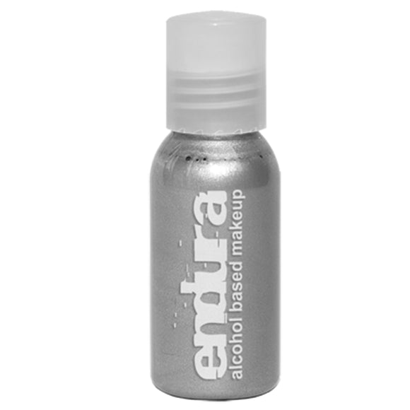 Endura Ink Alcohol Based Airbrush Makeup  - Metallic Silver (1 oz/ 30 ml)