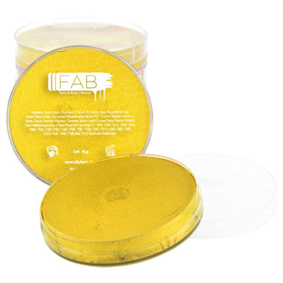 FAB Yellow Face Paint - Yellow Shimmer 132