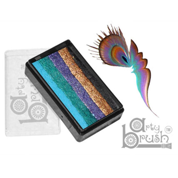 Silly Farm Arty Brush Cakes - Peacock (20 gm)