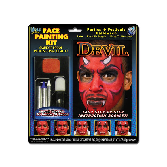 Wolfe Devil Face Painting Kit