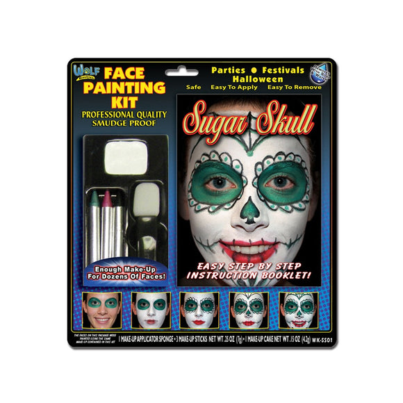 Wolfe Sugar Skull Face Paint Kits