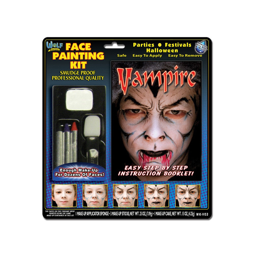 Wolfe Vampire Face Painting Kits (4 Colors)
