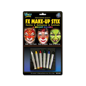 Wolfe Face Paint Crayons - Bright (6/box)