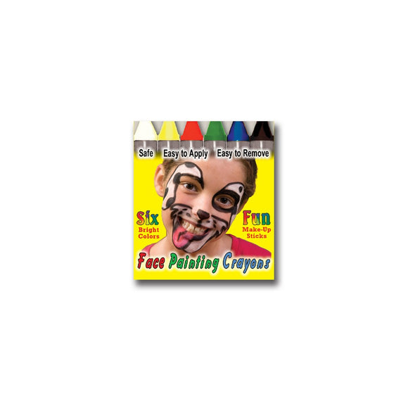 Wolfe Face Paint Crayons Giveaway Box - Bright (6/box)