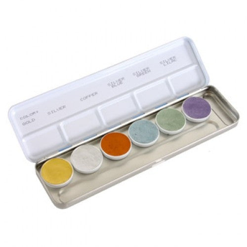 Kryolan Aquacolor Metallic Palettes (6 Colors)