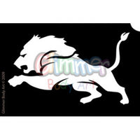 Glimmer Body Art Glitter Tattoo Stencils - Lion Head (5/pack)