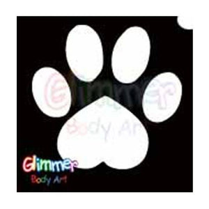 Glimmer Body Art Glitter Tattoo Stencils - Paw (5/pack)