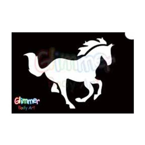 Glimmer Body Art Glitter Tattoo Stencils - Horse (5/pack)