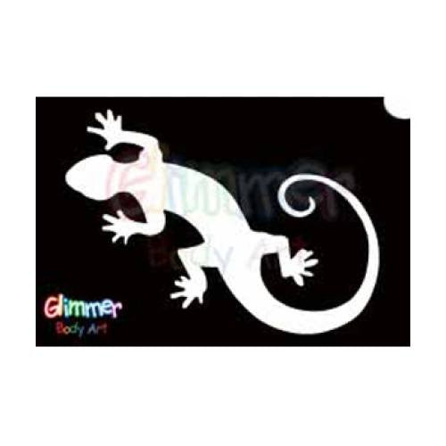 Glimmer Body Art Glitter Tattoo Stencils - Gecko (5/pack)