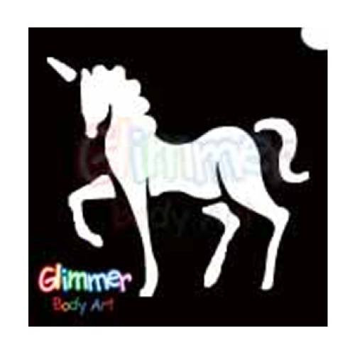 Glimmer Body Art Glitter Tattoo Stencils - Unicorn (5/pack)