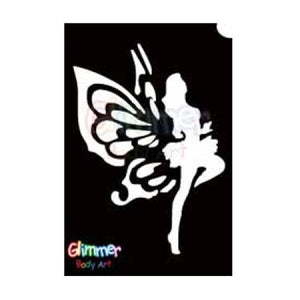 Glimmer Body Art Glitter Tattoo Stencils - Dancing Fairy (5/pack)