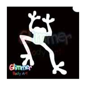 Glimmer Body Art Glitter Tattoo Stencils - Frog (5/pack)