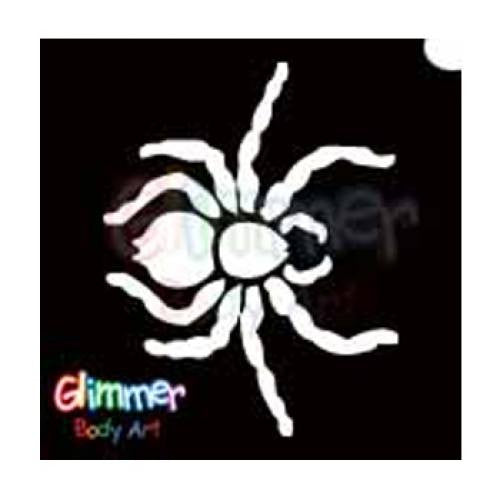 Glimmer Body Art Glitter Tattoo Stencils - Spider 1 (5/pack)