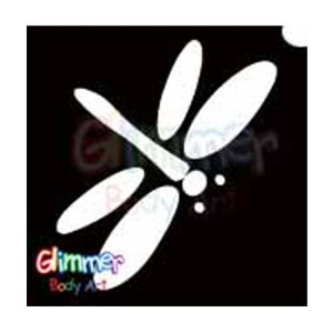 Glimmer Body Art Glitter Tattoo Stencils - Dragonfly (5/pack)