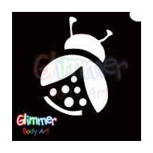 Glimmer Body Art Glitter Tattoo Stencils - Lady Bug (5/pack)
