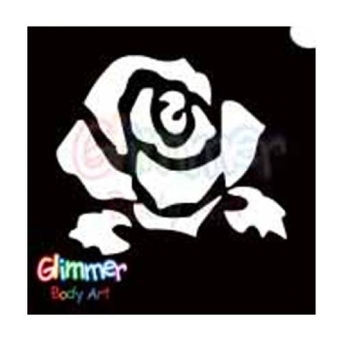 Glimmer Body Art Glitter Tattoo Stencils - Rose 1 (5/pack)