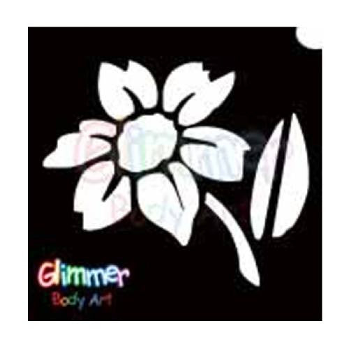 Glimmer Body Art Glitter Tattoo Stencils - Daisy 2 (5/pack)
