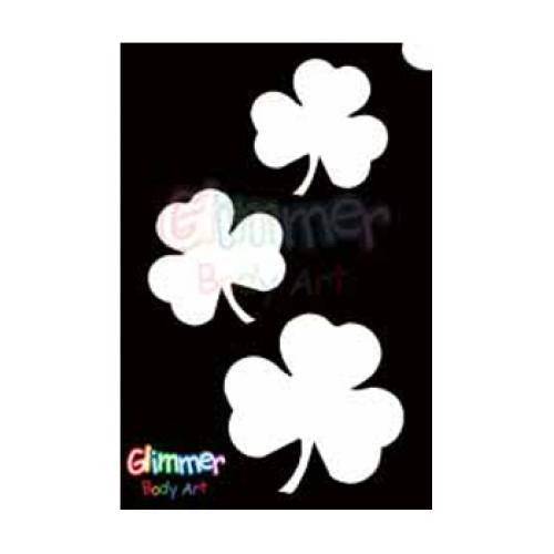 Glimmer Body Art Glitter Tattoo Stencils - Shamrocks (5/pack)