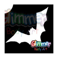 Glimmer Body Art Glitter Tattoo Stencils - Bat 3 (5/pack)