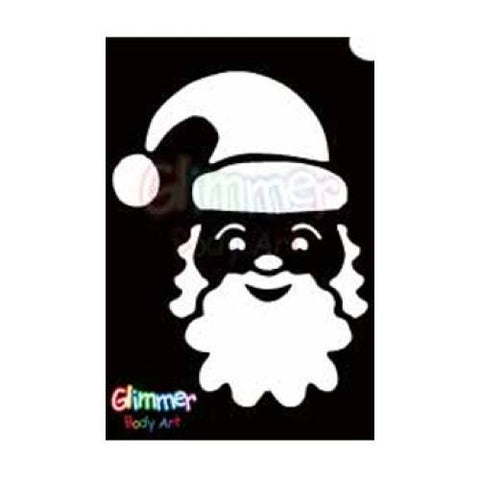 Glimmer Body Art Glitter Tattoo Stencils - Santa (5/pack)