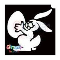 Glimmer Body Art Glitter Tattoo Stencils - Easter Bunny 1 (5/pack)