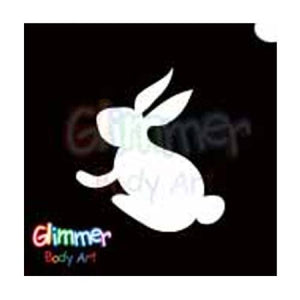 Glimmer Body Art Glitter Tattoo Stencils - Easter Bunny 3 (5/pack)