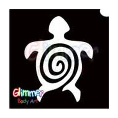 Glimmer Body Art Glitter Tattoo Stencils - Turtle 2 (5/pack)