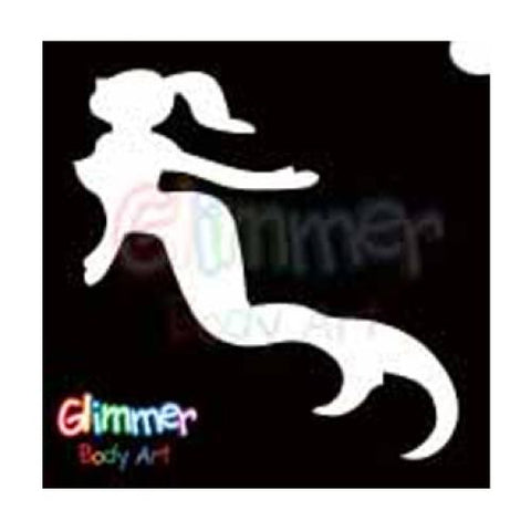 Glimmer Body Art Glitter Tattoo Stencils - Mermaid (5/pack)