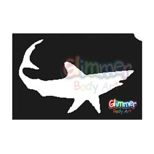 Glimmer Body Art Glitter Tattoo Stencils - Shark (5/pack)