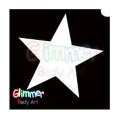 Glimmer Body Art Glitter Tattoo Stencils - Star 2 (5/pack)