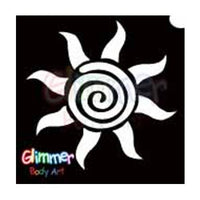 Glimmer Body Art Glitter Tattoo Stencils - Sun 1 (5/pack)
