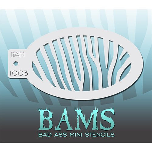 Bad Ass Mini Stencils - Zebra - BAM1003