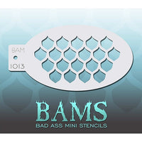 Bad Ass Mini Stencils - Fish Scales - BAM1013